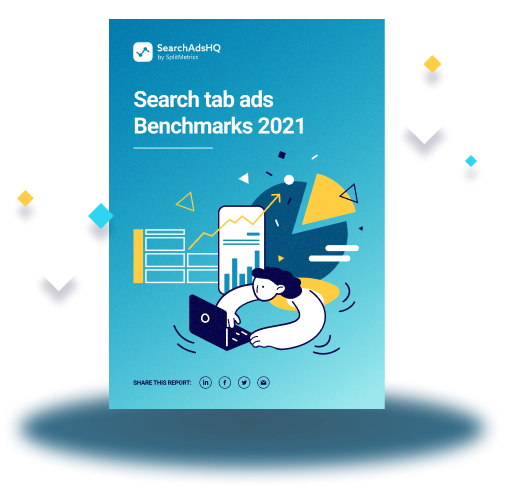 Search tab ads Benchmarks 2021
