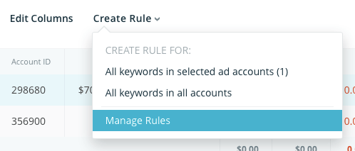 Manage automated Rules in SearchAdsHQ